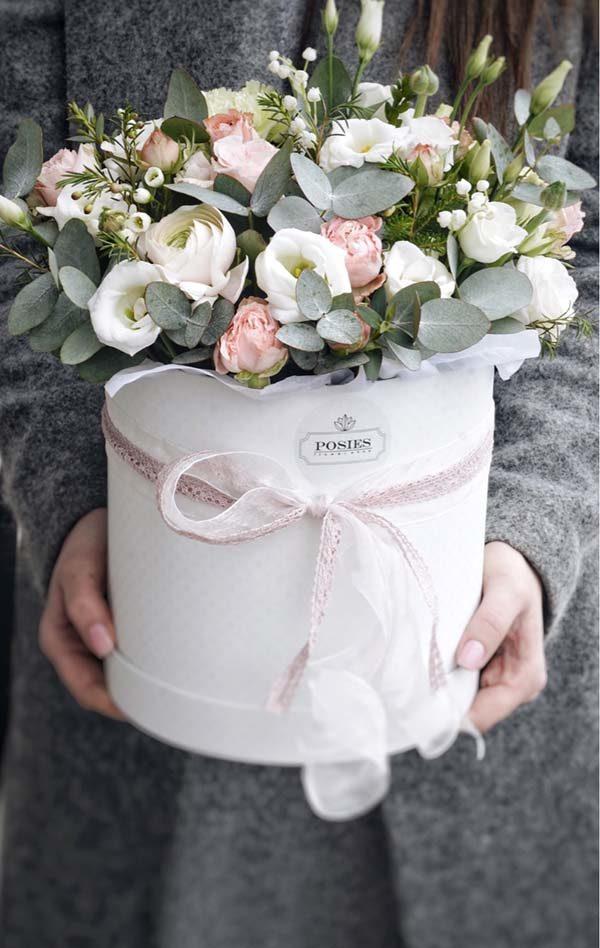 купить коробочку цветов