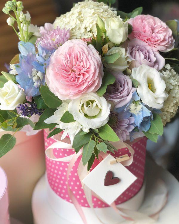 купить цветы в коробочке в Минске